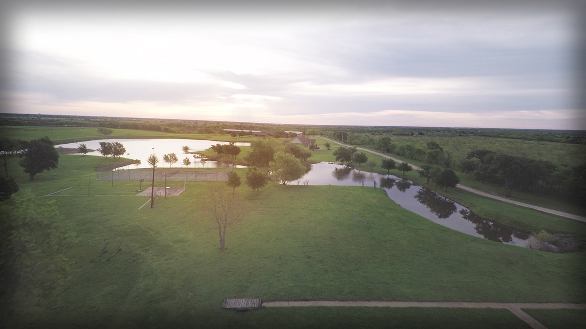 Lonesome Dove Ranch - Aerial from the West