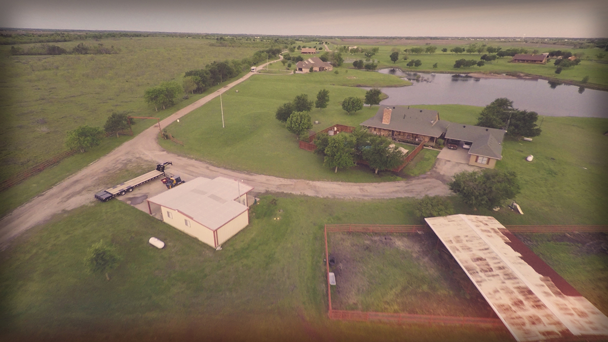Lonesome Dove Ranch - Aerial from the East
