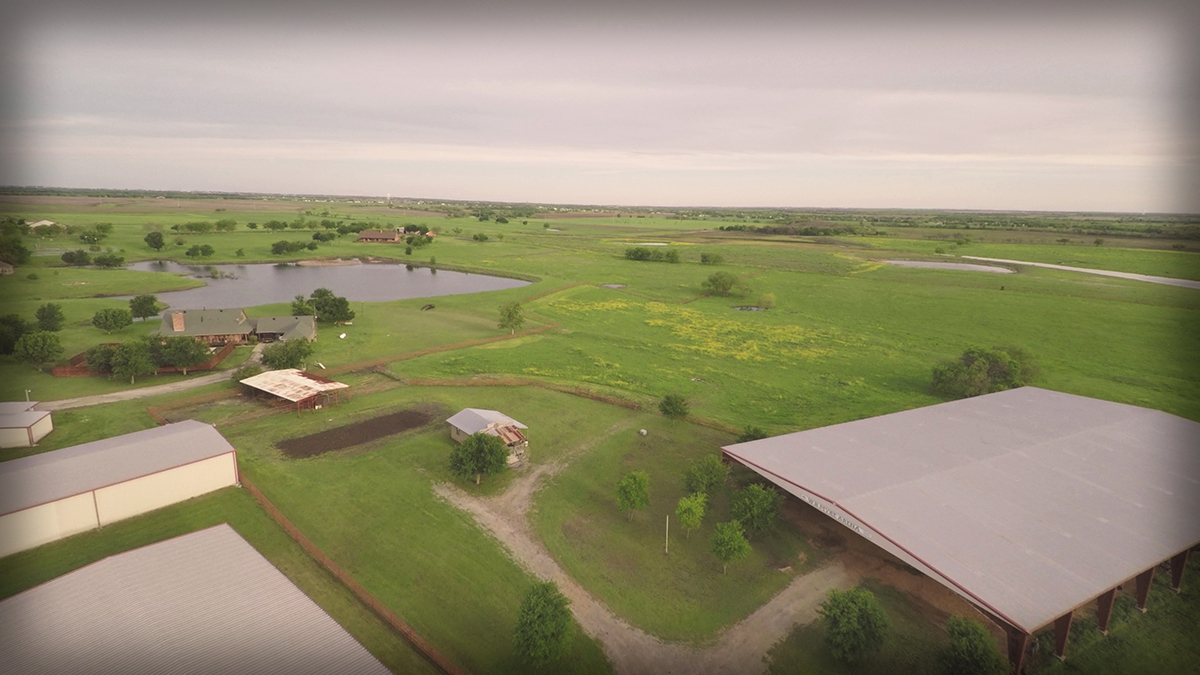 Lonesome Dove Ranch - Aerial from the South East