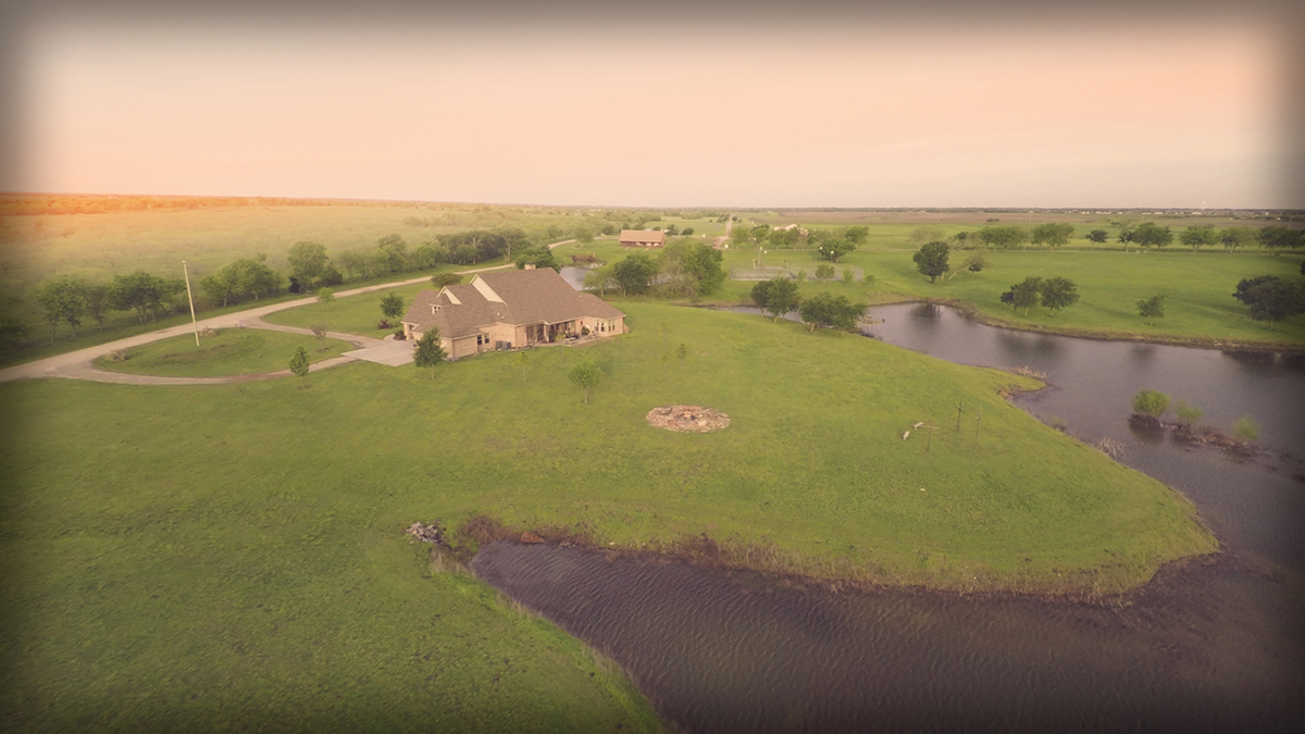 Lonesome Dove Ranch - Aerial of the caretaker's house