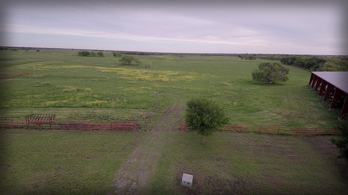 Lonesome Dove Ranch - Aerial of the turnout pasture