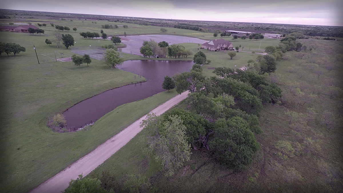 Lonesome Dove Ranch - Aerial of the full property